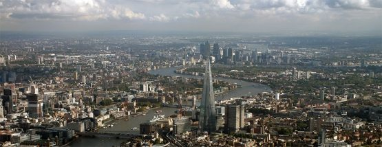 London-skyline-Shard-Canary-Wharf