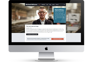 Web design for writer Michael Williams