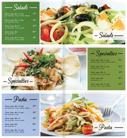 Menu Design Example