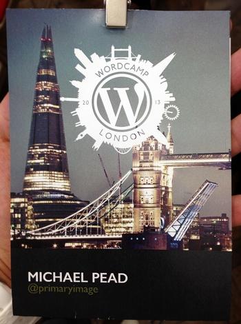 WordCamp London lanyard