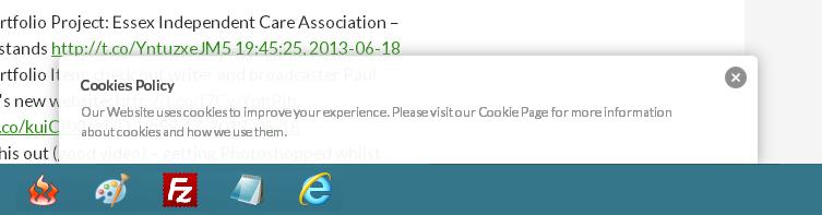 EU Cookie Law popup