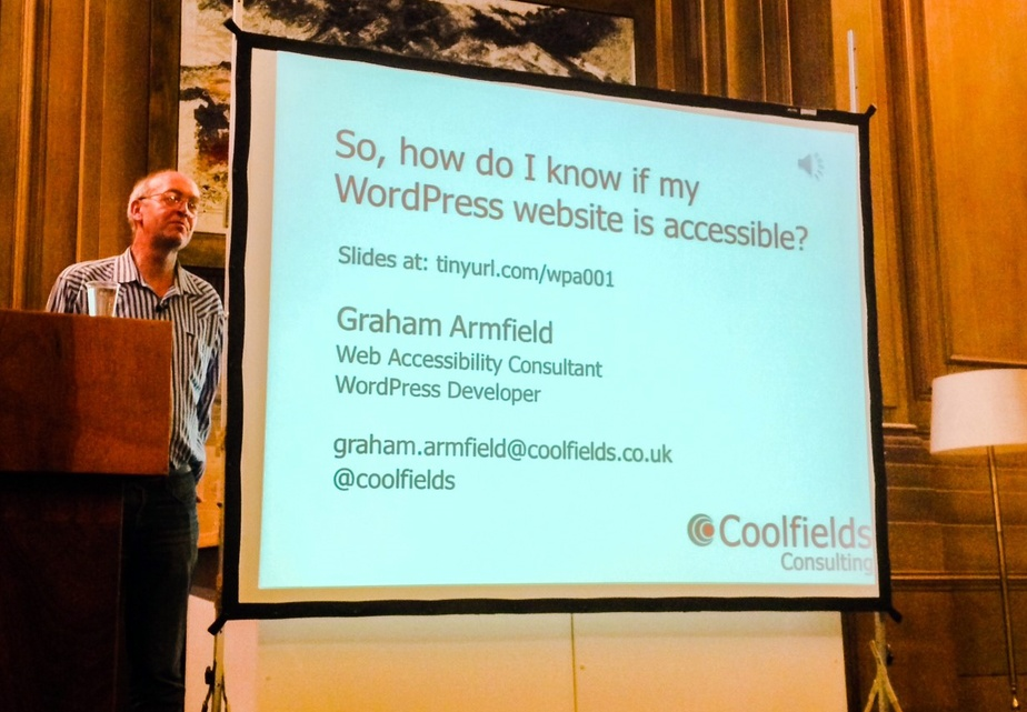 WordCamp Sheffield - Graham Armfield - accessibility consultant