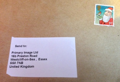 Christmas stamp - Royal Mail envelope