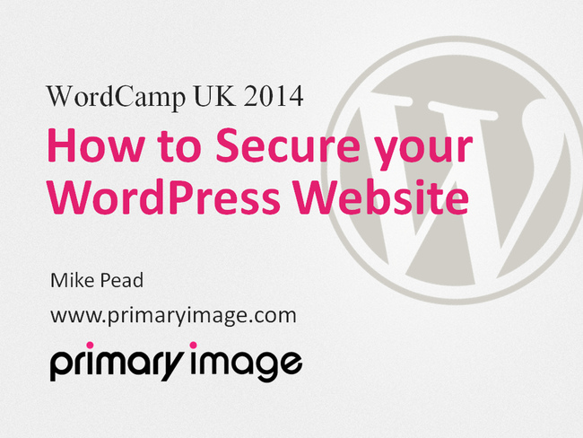 WordPress Security Slide1