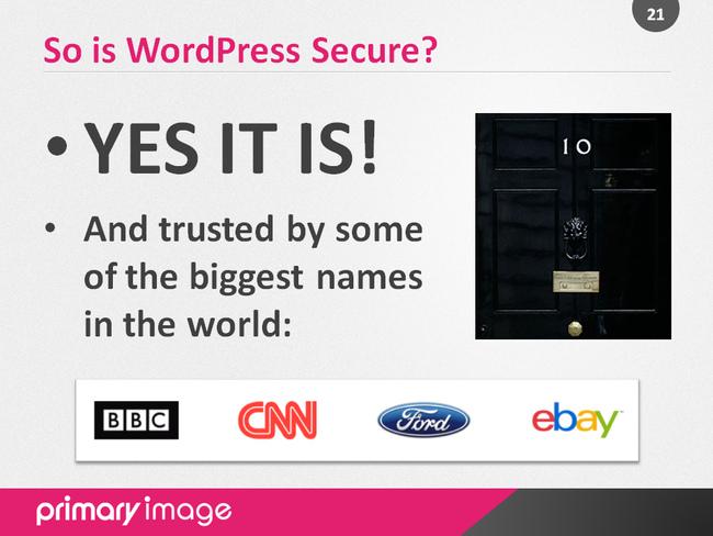 WordPress Security Slide21