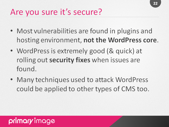 WordPress Security Slide22
