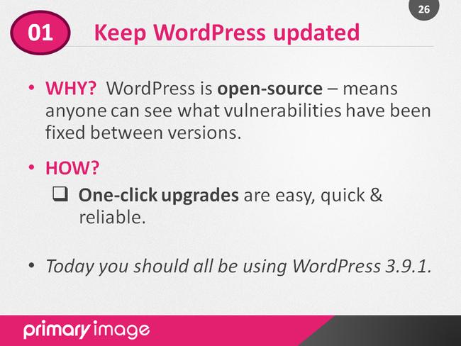 WordPress Security Slide26