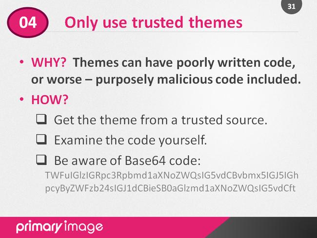 WordPress Security Slide31