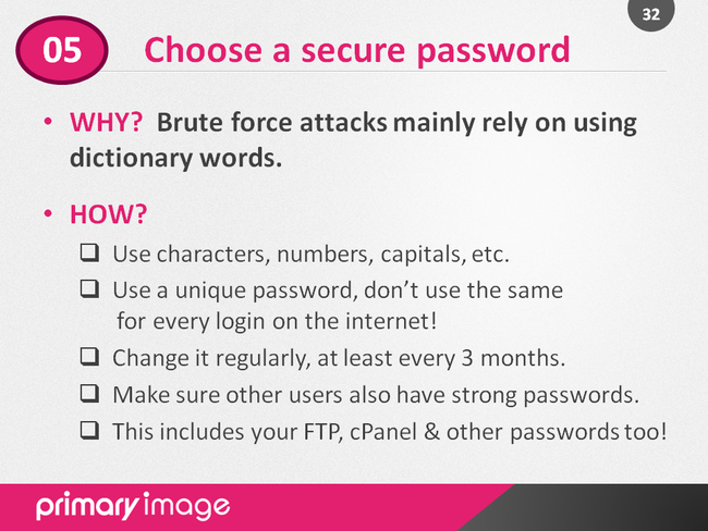 WordPress Security Slide32