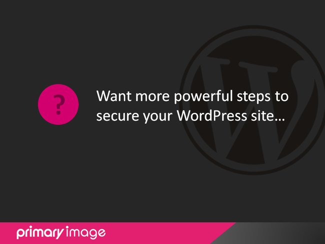 WordPress Security Slide36