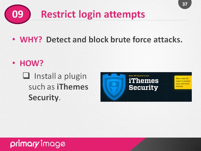 WordPress Security Slide37