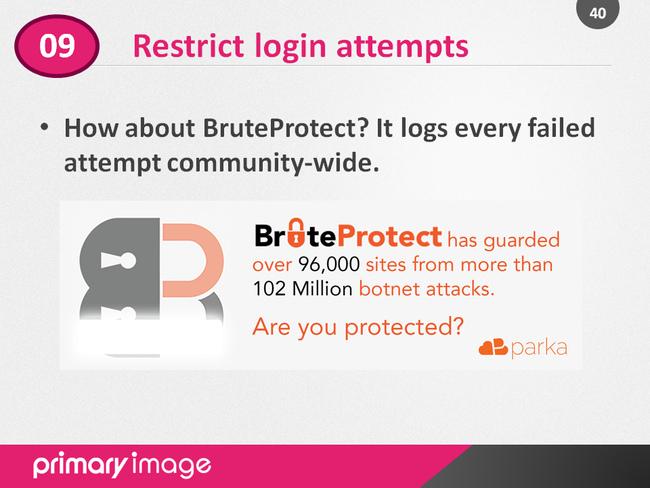 WordPress Security Slide40