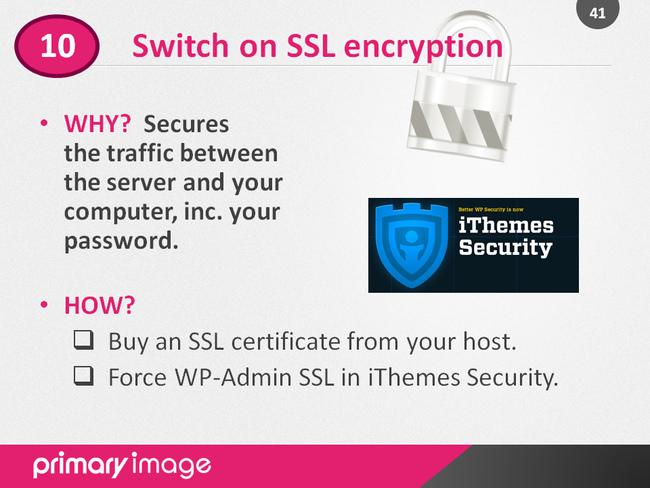 WordPress Security Slide41