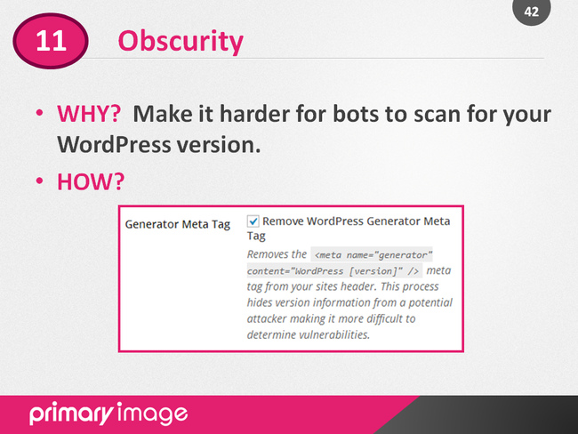 WordPress Security Slide42