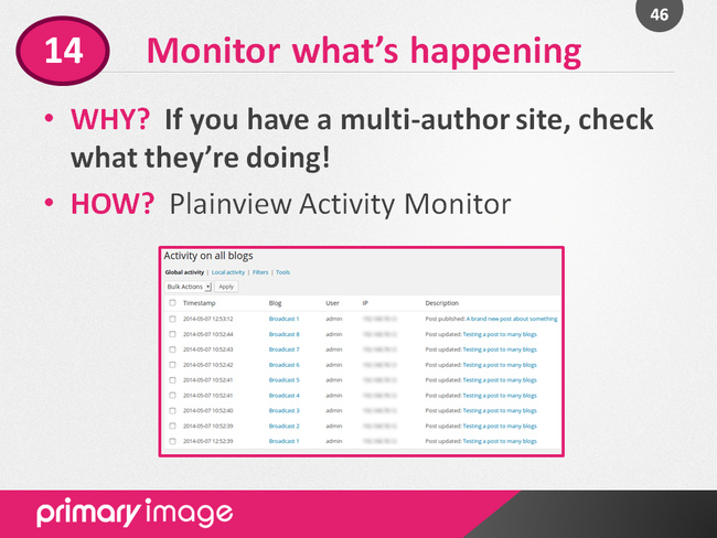 WordPress Security Slide46