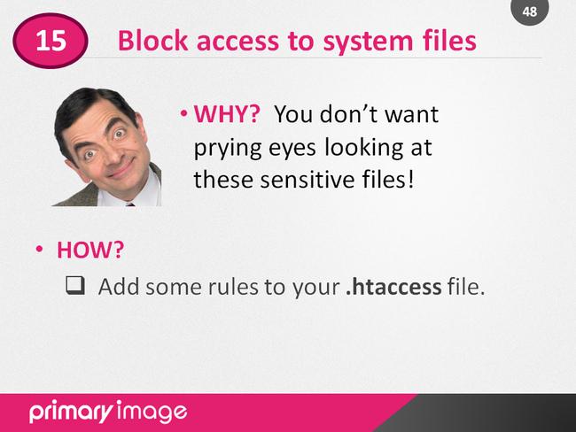 WordPress Security Slide48