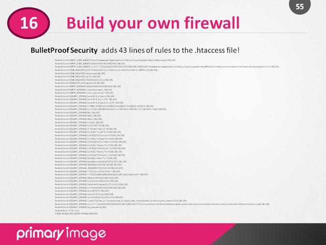 WordPress Security Slide55