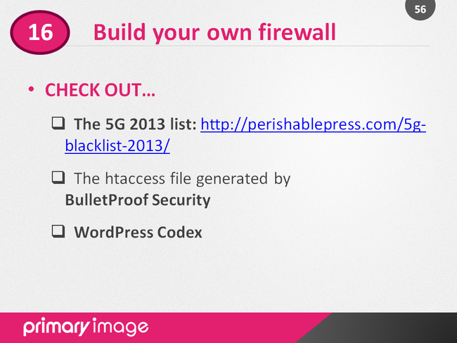 WordPress Security Slide56