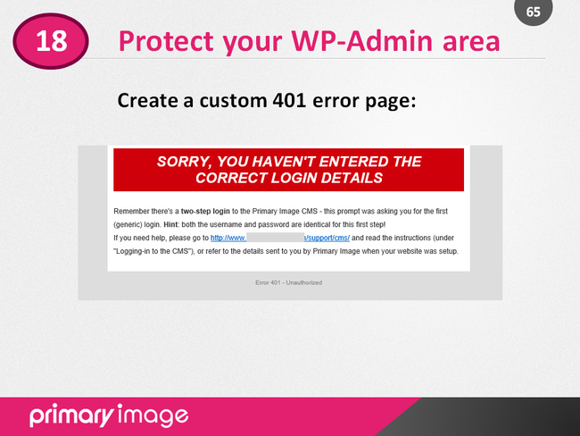 WordPress Security Slide65