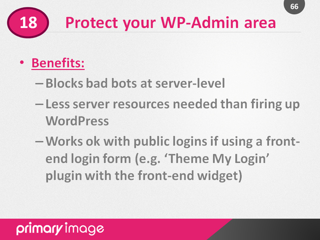 WordPress Security Slide66