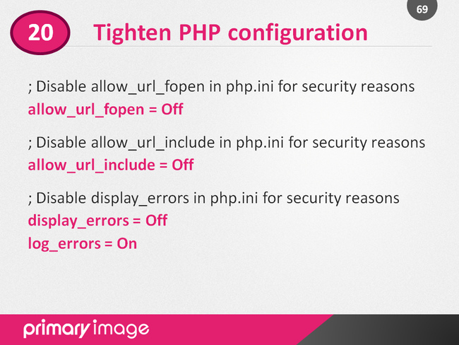 WordPress Security Slide69