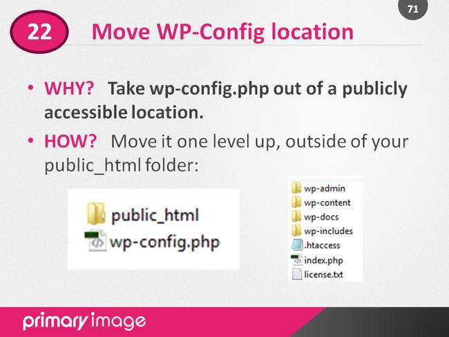 WordPress Security Slide71