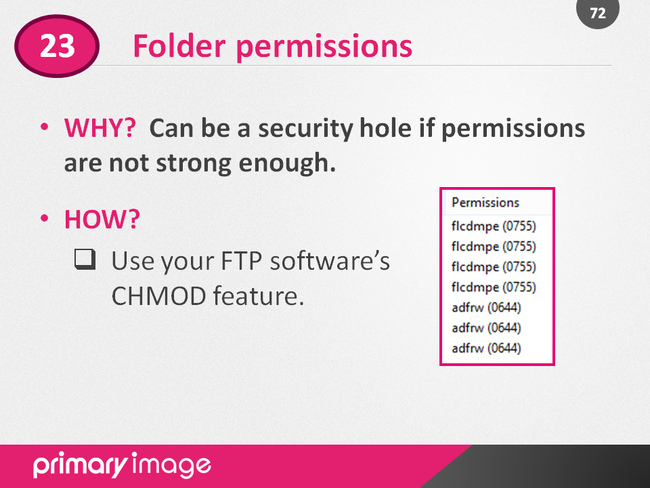 WordPress Security Slide72