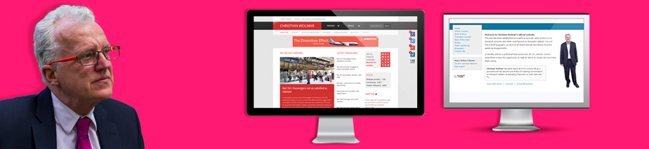 Christian Wolmar website design