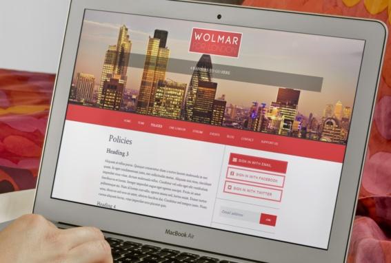 Wolmar for London NationBuilder web design