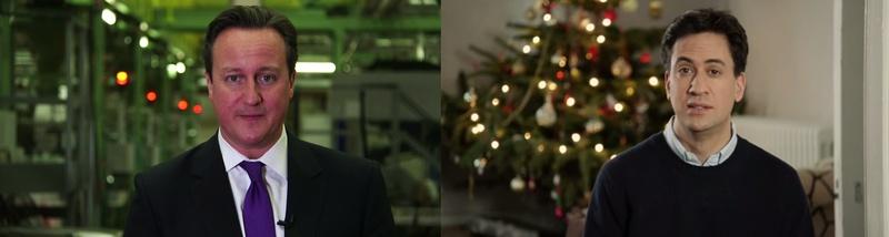 David Cameron Ed Miliband 2015 New Year Message