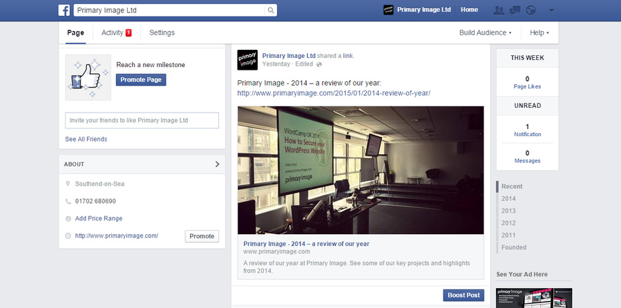 Facebook fixed navigation bar