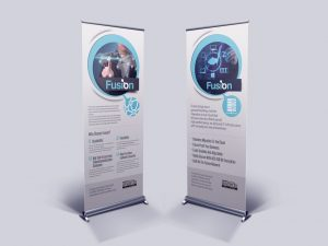 IT Company Banner Stands - Fusion