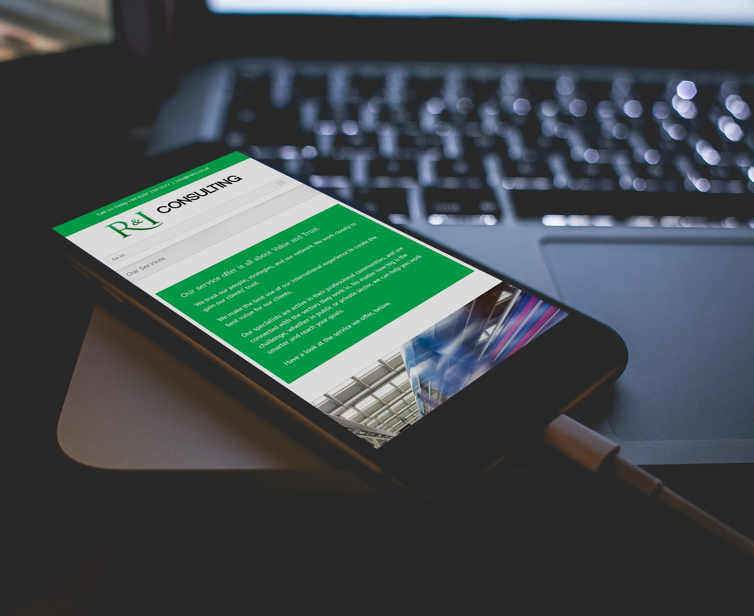 Mobile web design for engineering consultancy