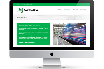 Website design for a rail consultancy business