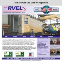 RVEL's old website that we replaced