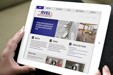 Web design for RVEL (rail engineering)