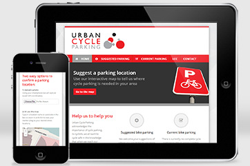 Web design for Urban Cycle Parking (LCC & TfL)