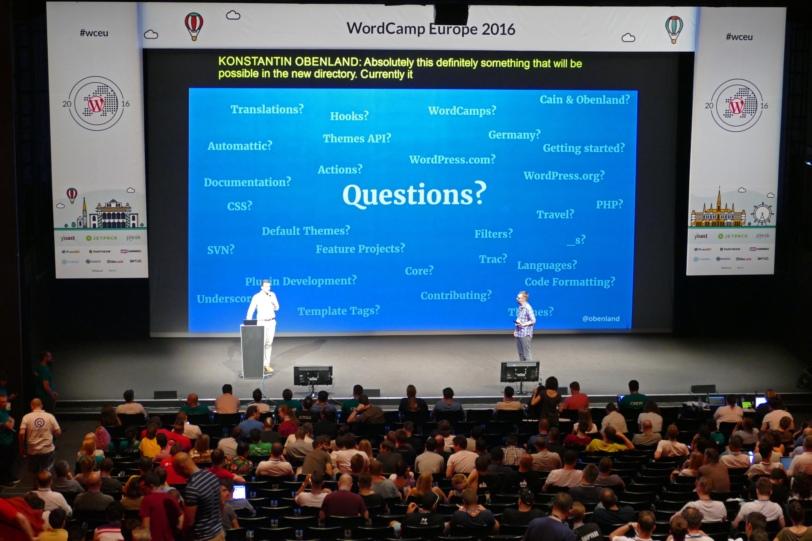 Presentation at WordCamp Europe