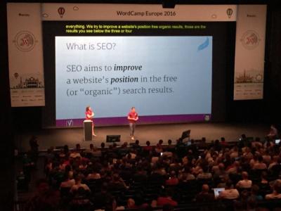 Yoast SEO tips at WordCamp Europe