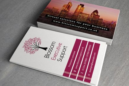 Business cards for a virtual PA business