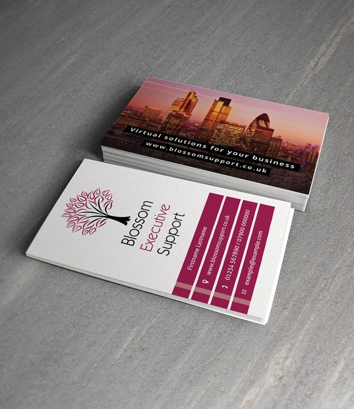Blossom-Executive-Support-Business-Card-Design