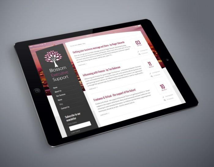 Blossom Executive Support on iPad