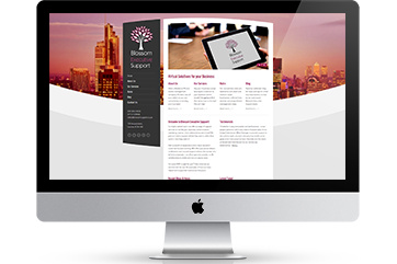 Web design for a virtual PA business