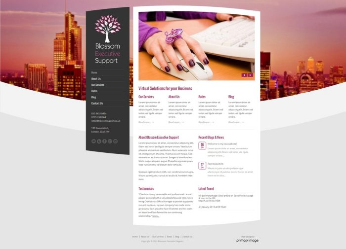 Blossom Executive Support web design
