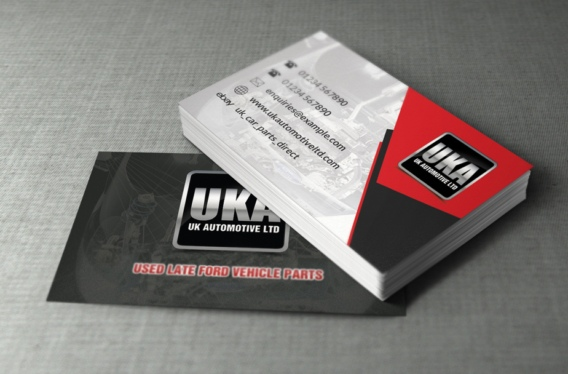 Business card design for UK Automotive