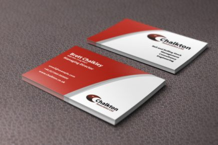 Business cards for Chalkton Associates consultancy