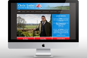 Web design for a councillor