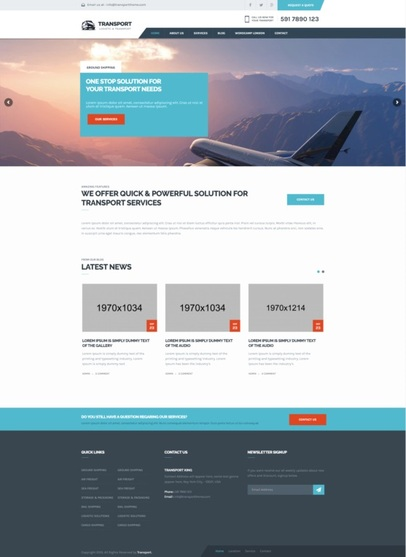Example WordPress theme