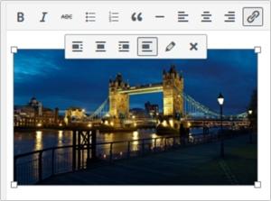 Image resizing tool in WordPress