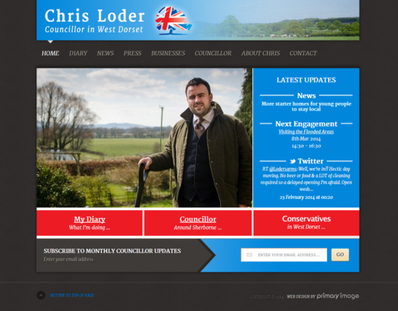 Political web design Conservative Party